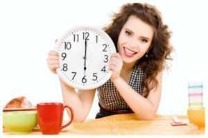 Для похудения продукты по часам